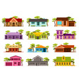 set small houses vector image