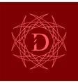 Simple Monogram D vector image vector image
