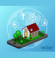 smart home isometric design style vector image