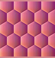smooth color gradient hexagon mosaic background vector image vector image