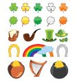 St Patrick's day icon set vector image vector image
