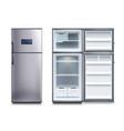 steel fridges set vector image vector image