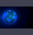 technology earth background with network vector image