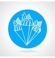 Temaki sushi blue icon vector image