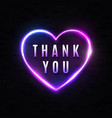 thank you sign on black brick wall background vector image