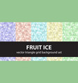 Triangle pattern set fruit ice seamless