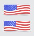 USA flag banners vector image