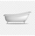 vintage bathtub mockup realistic style vector image