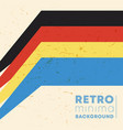 vintage color stripes background with retro vector image vector image