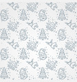 winter seamless simpleline pattern vector image vector image