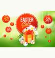 easter sale banner vector image
