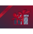 gifts background Happy Christmas Box with a vector image
