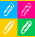 clip sign four styles of icon on vector image