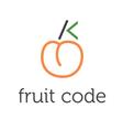 concept fruit code vector image