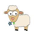 Cartoon Character Cute Sheep Symbol of 2015 Year vector image