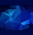 abstract polygonal background blue mosaic pattern vector image vector image
