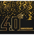 anniversary outline gold vector image