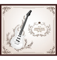 Antique Guitar Icon vector image