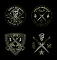 army emblems set vector image