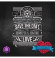 Artistic Save the Date Template Design vector image