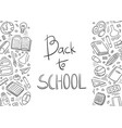 back to school doodle first day school vector image vector image