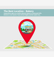 best location bakery vector image