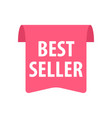 best seller label isolated on white red color vector image vector image