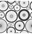 bicycle wheel seamless pattern bike rubber vector image
