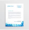 blue mosiac style letterhead design vector image vector image