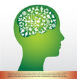 brain and ecology icon vector image vector image