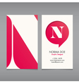 Business card template letter N vector image