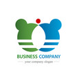 business company logo commercial and trading vector image