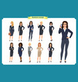 business people set womensteamwork vector image