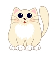 Cartoon smiling gentle beige kitty with ginger vector image vector image