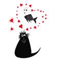 cat love 2 vector image vector image