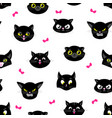 cat pattern halloween cats seamless texture flat vector image