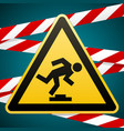 caution low-noticeable obstacle safety sign vector image vector image