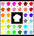 chef cap sign felt-pen 33 colorful icons vector image vector image