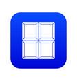 chocolate piece icon digital blue vector image
