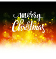 christmas background with bokeh vector image vector image
