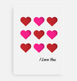 cut the heart on the paper and a white background vector image vector image