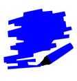 dark blue marker copy space vector image vector image