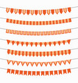 decoration with orange and yellow bunting flags vector image