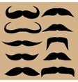 Different types of mustaches Retro style vector image vector image