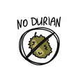 durian sketch for your design vector image vector image