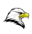 eagle head mascot sign vector image