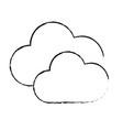 figure nice clouds weather of sky vector image vector image