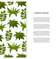 flat green plants banner design vector image vector image