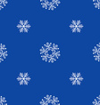 flat style snowflakes seamless pattern vector image