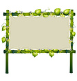 Frame made of bamboo with white cloth vector image vector image